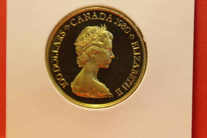 Münze 100 Dollar Canada Gold  1980   27 mm #3186